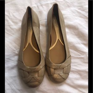 Naturalizer Gold/Tan ballet flats, size 8.5